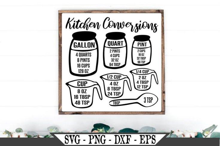 Download Kitchen Conversion Chart SVG, Measurement Cheat Sheet png ...