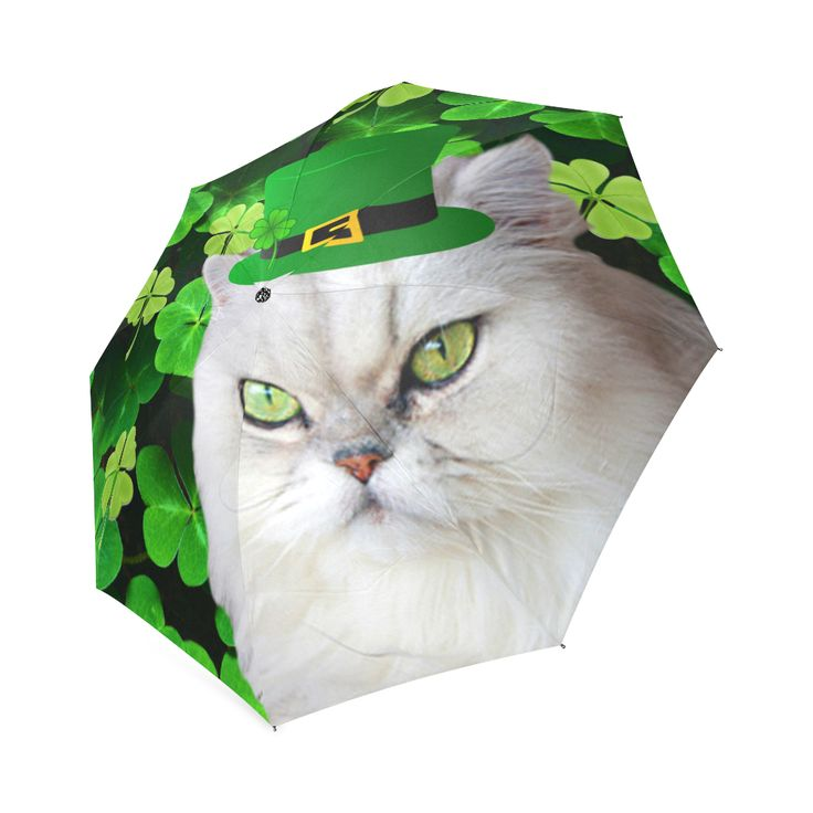 Irish Cat Foldable Umbrella. FREE Shipping.  #erikakaisersot #artsadd #umbrellas  #cats
