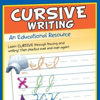 """Kids will learn cursive through tracing and writing! Trace the letters and then practice on your own! Then, trace the words and practice on your own! Children will learn each letter in cursive, a corresponding word that starts with that letter, the months of the year, sports and sentences in the """"more practice"""" sections!    Includes Music Track """"I Like To Write, Spell, And Read!""""  $1.99"""