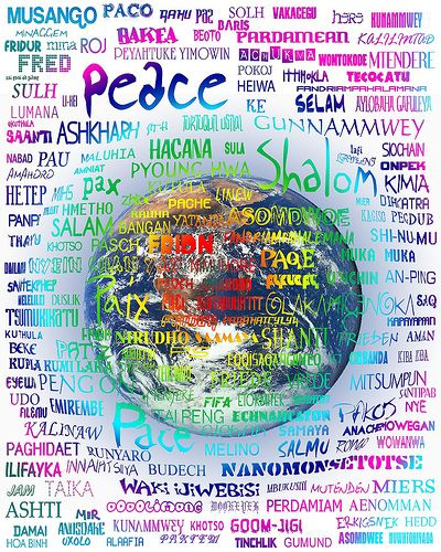 Write Peace in Different Languages | One in a Billion Consulting: How to have a Life of Happiness and ...