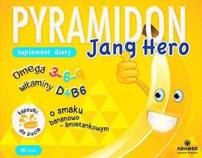 Pyramidon Adamed - brand identity.  CREATIVE TEAM  Head of Creative - Katarzyna Idzikowska Art Director - Katarzyna Idzikowska Junior Art Director - Katarzyna Rybus