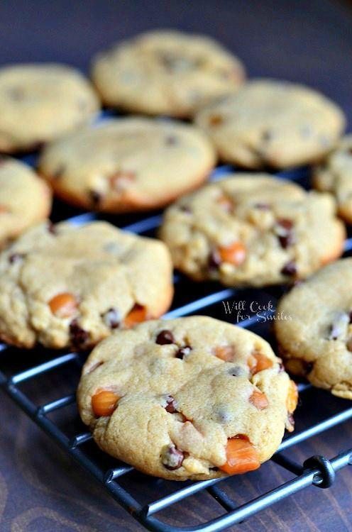 Peanut Butter Chocolate & Caramel Cookies