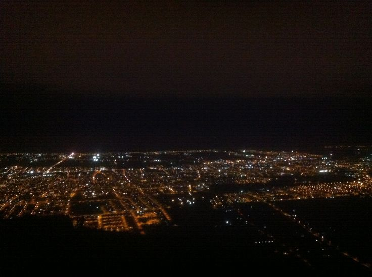 Vista Nocturna a la Ciudad de La Serena desde Cerro Grande.Chile.