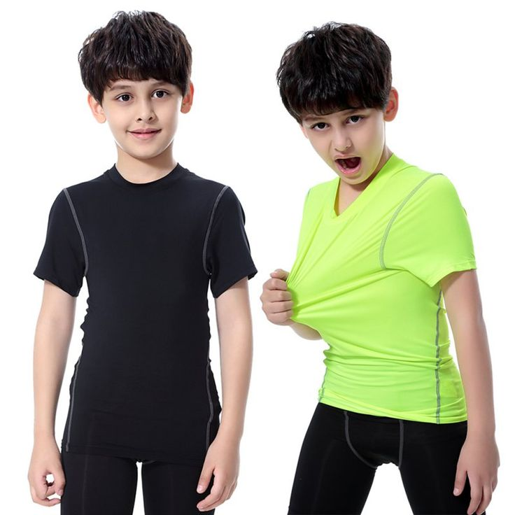 Baby Quick-drying Clothes Kids Boy Girl Compression Base Layer Skins Tee Short Sleeve T- Shirt