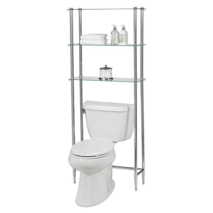 Creative Bath L Etagere 3 Shelf Glass Over The Toilet Space Saver