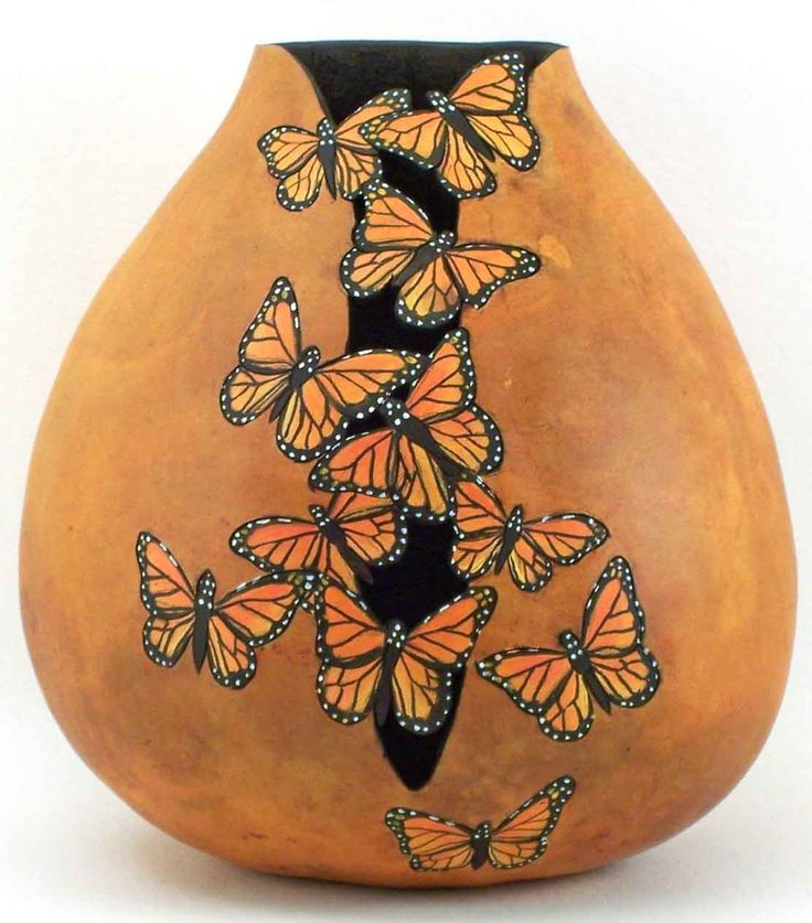 Phyllis Sickles, Visions on Gourds.  Love this.