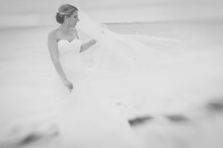 bride at cap Cana beach in Dominican Republic