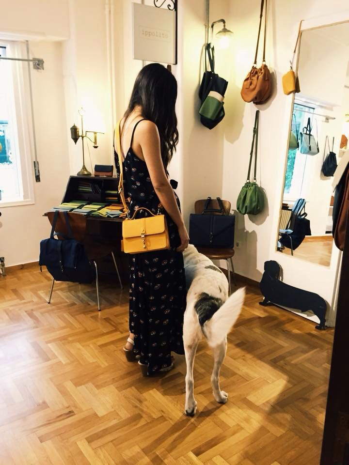 Our favorite girl, Mariloo designer of Karavan Clothing, just got her Fionnette in Apricot! Isn't she something?