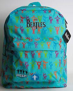 beatles backpack... WHERE DO I GET ONE?!?!?!?! <3