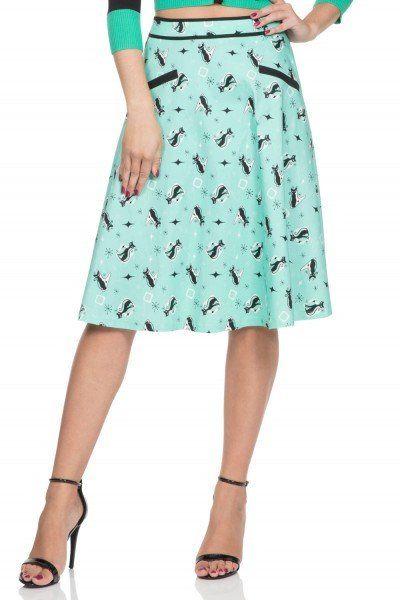 Emma Mint Kitty Skirt