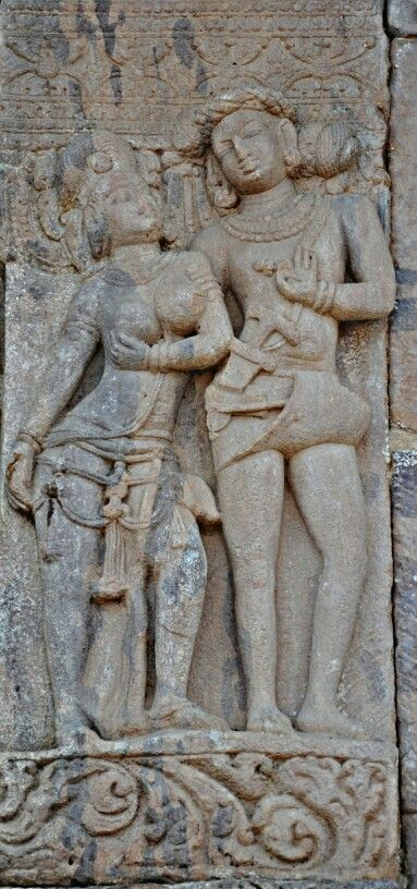 """ A Tribal Couple. "" Virupaksha Temple. Pattadakal. Chalukya Dynasty. 8th Century CE. Karnataka, India."