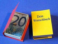 Geld liebevoll verpacken  mein  Wunschbuch