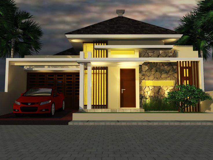 desain rumah Modern tropis 1 lantai di http://jasadesainrumahmurah.com/