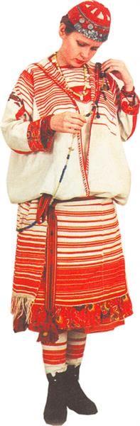 Удмуртский национальный костюм фото