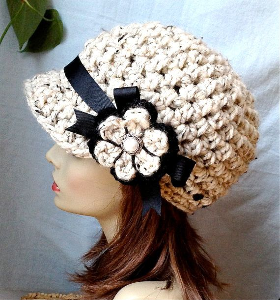 Hey, I found this really awesome Etsy listing at https://www.etsy.com/listing/119862684/cold-weather-crochet-womens-hat-newsboy