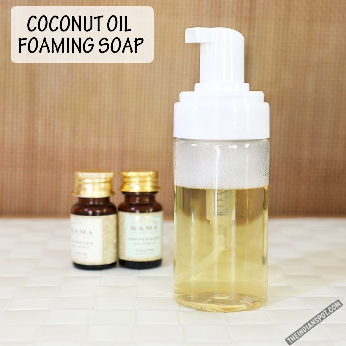 Antibacterial coconut oil foaming soap