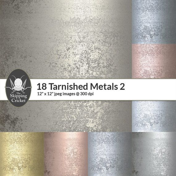 18 tarnished metal papers dirty metal textures grunge metal