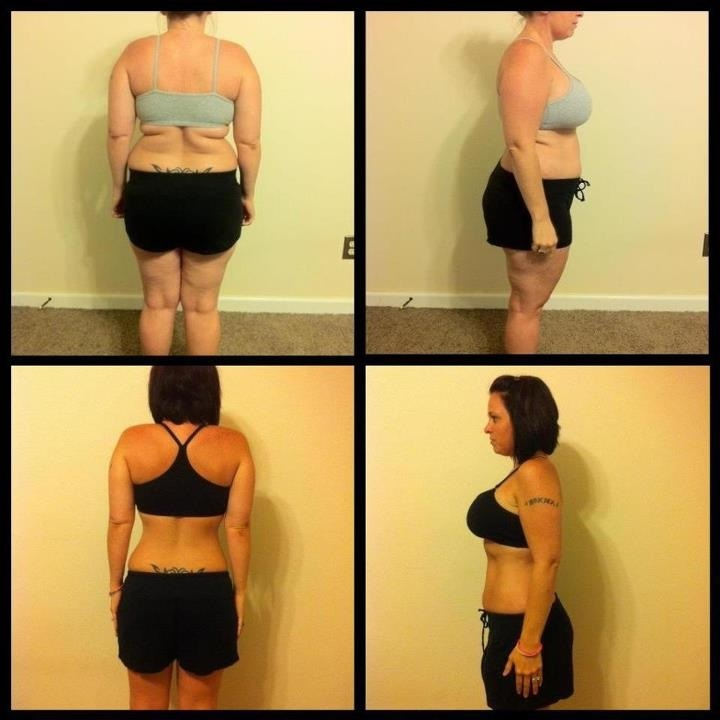 Monica has tremendous yet typical results with P90X and a clean diet plan.... all available through one on one P90X training from the comfort of your home.    More information:  Info@CoachDonnie.com