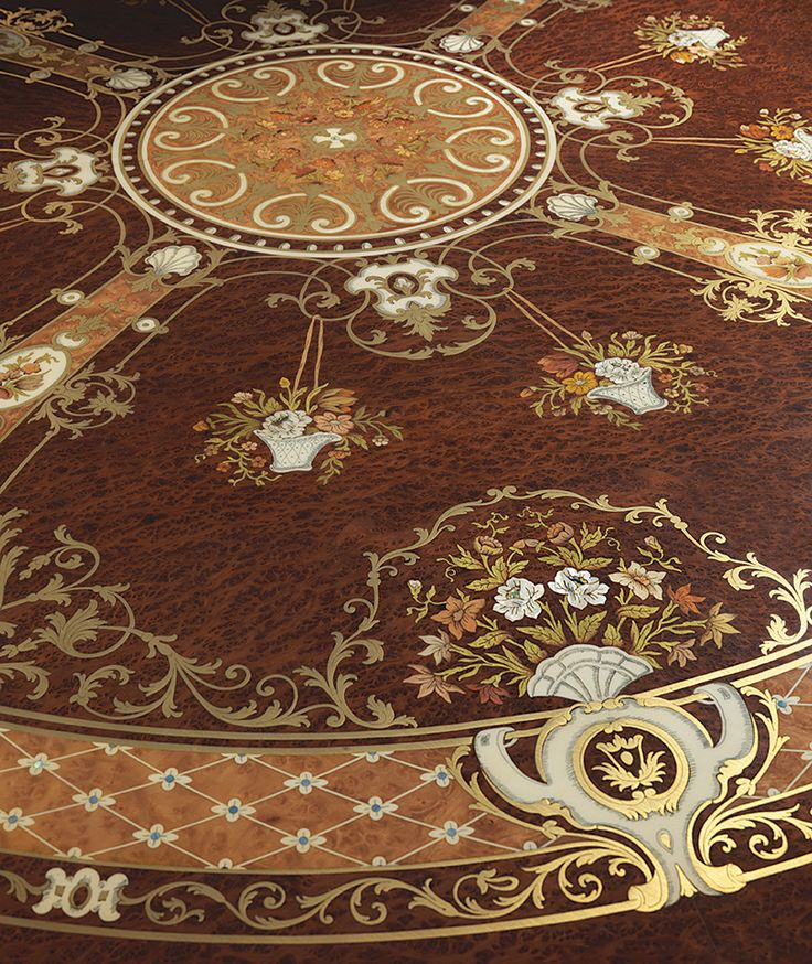 Mother of pearl inlaid table.