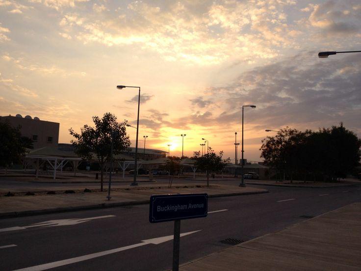 Sunrise on the way to school.