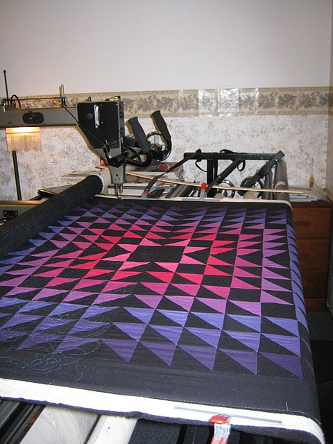Awesome looking Amish quilt.
