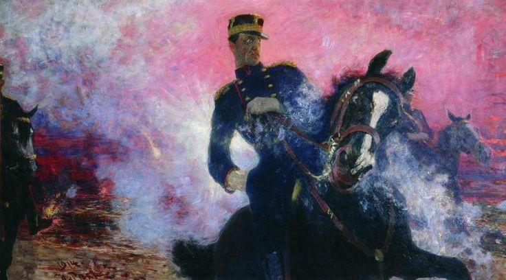 Илья Ефимович Репин. Бельгийский король Альберт в момент взрыва плотины в 1914…