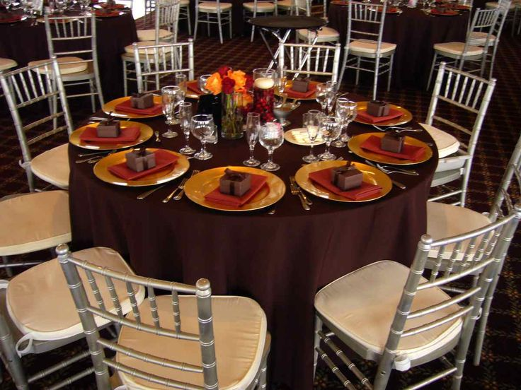 Fall Table Cloth, Plate, Napkin, And Favor Box .turn Chairs Into Gold  Instead Of Silver