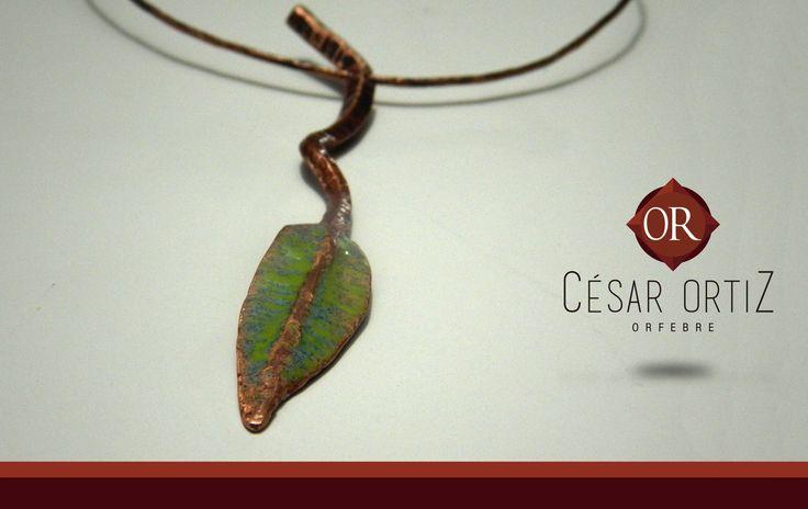 Forjada y esmaltada #joyas #Handmade #artesanía #fuego #cesarorfebre #formación #rancagua #orfebre #cobre