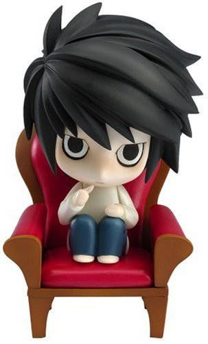 Light Death Note Mini Action Figure. This mini L is just a perfect and super cute merchandise of death note. Just look at his thumb and the way he sit on that sofa! You can have him on https://www.etsy.com/shop/SEBOID . The figure has a removable sofa, arms, legs, and accessories. Just a perfect item for your death note collection ^^
