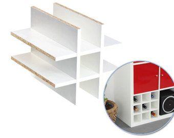 Flascheneinsatz für Ikea Kallax Regal / WEISS