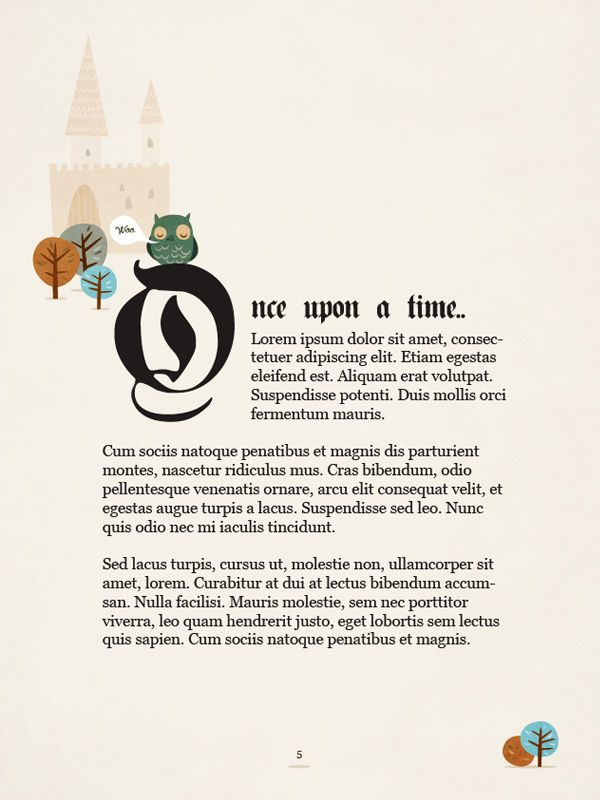 create the first page of a fairy tale story book, with a hint of kitsch tutorial
