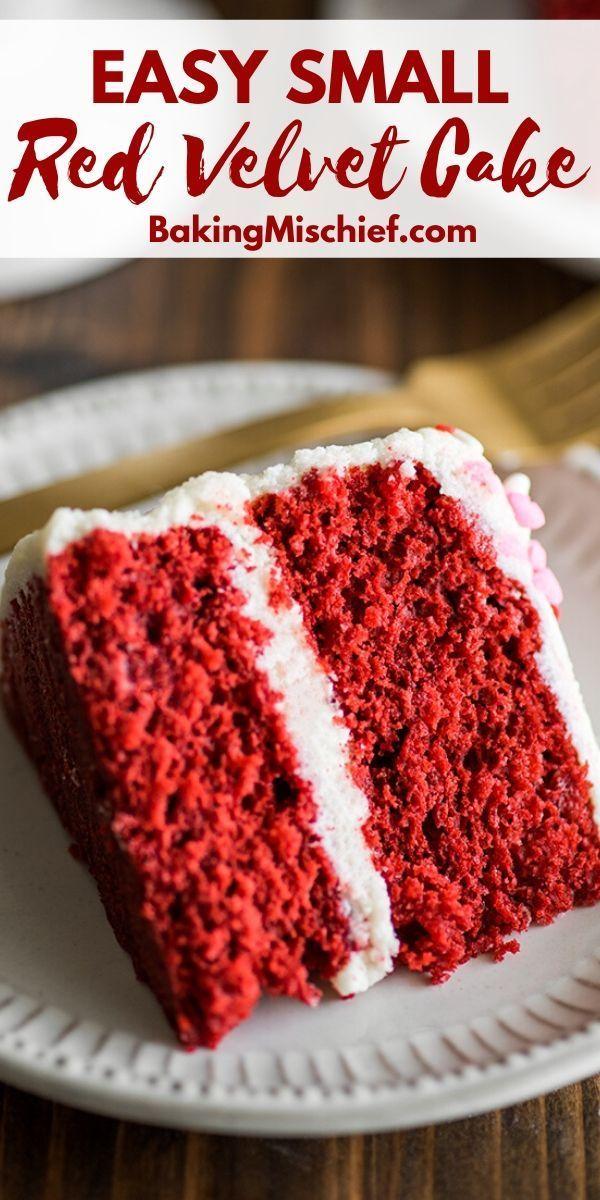 Small Red Velvet Cake Small Red Velvet Cake Recipe Velvet Cake Recipes Red Velvet Cake Recipe