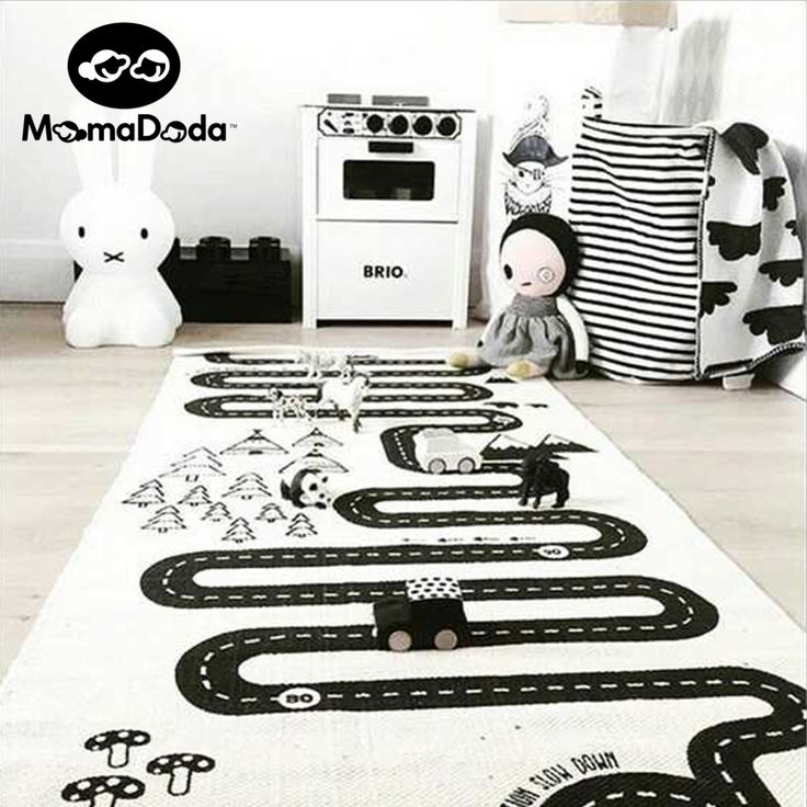 Mamadada  Canvas Track Play Mat Game Rug Educational Sport Crawling Mats Blanket Children Play Mat Gym Mat For Children #Affiliate