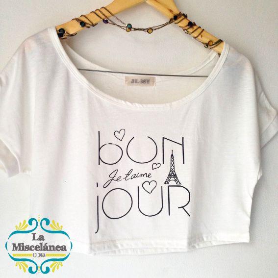 CROPTOP Paris! oh Lalá! compra y entrega inmediata COLOMBIA! Whatsapp 3135724122