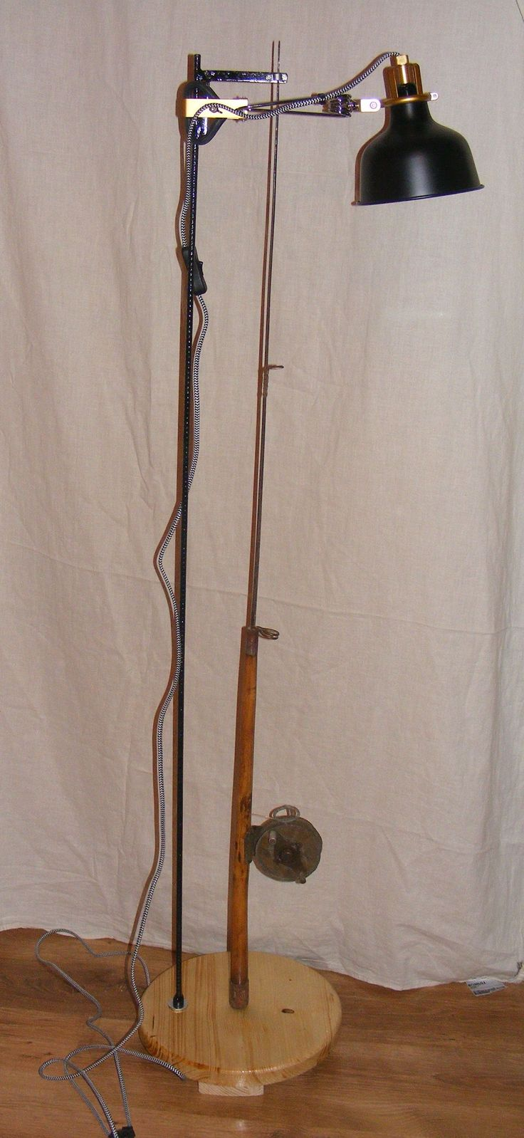 The 60 years  hand made fishing rod lamp