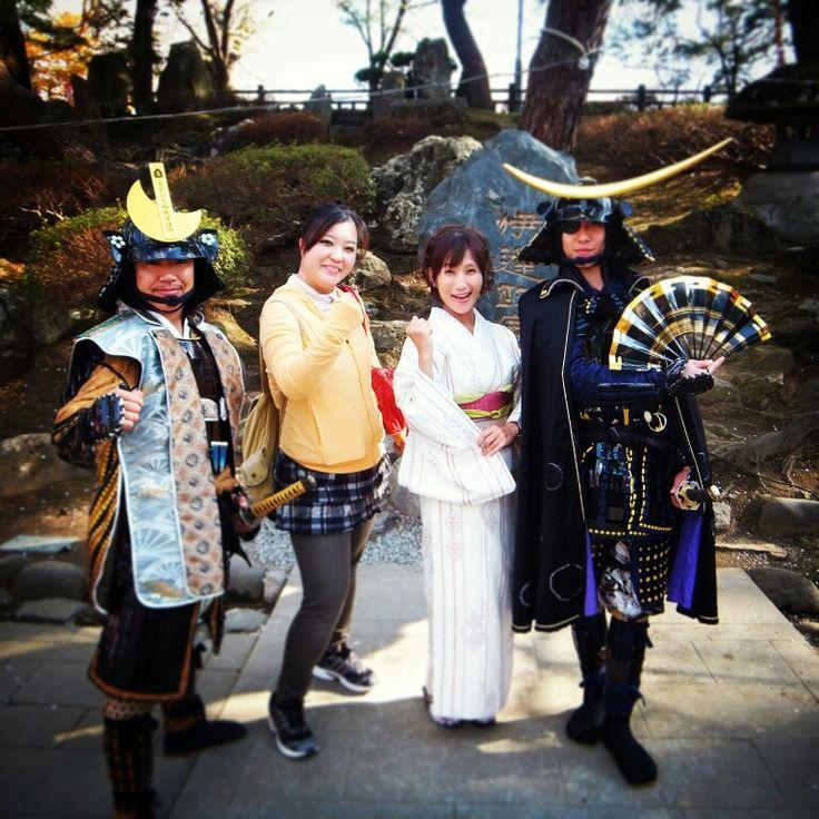 山形 米沢 上杉神社にて。 with KIYU & おきたま愛の武将隊 MASAMUNE & KAGEKATSU