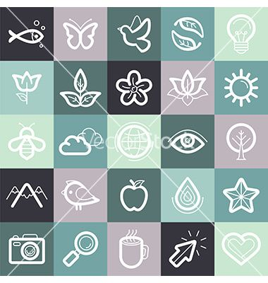 Set of design elements and symbols vector. Environmental icons by venimo on VectorStock®