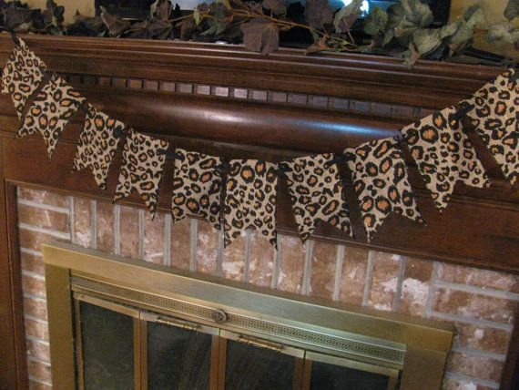 Hey, I found this really awesome Etsy listing at https://www.etsy.com/listing/160787804/burlap-leopard-print-banner-garland