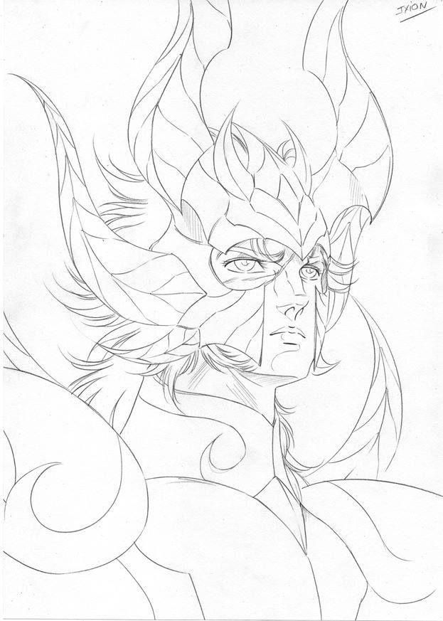 Saint Seiya Drawing by Araki