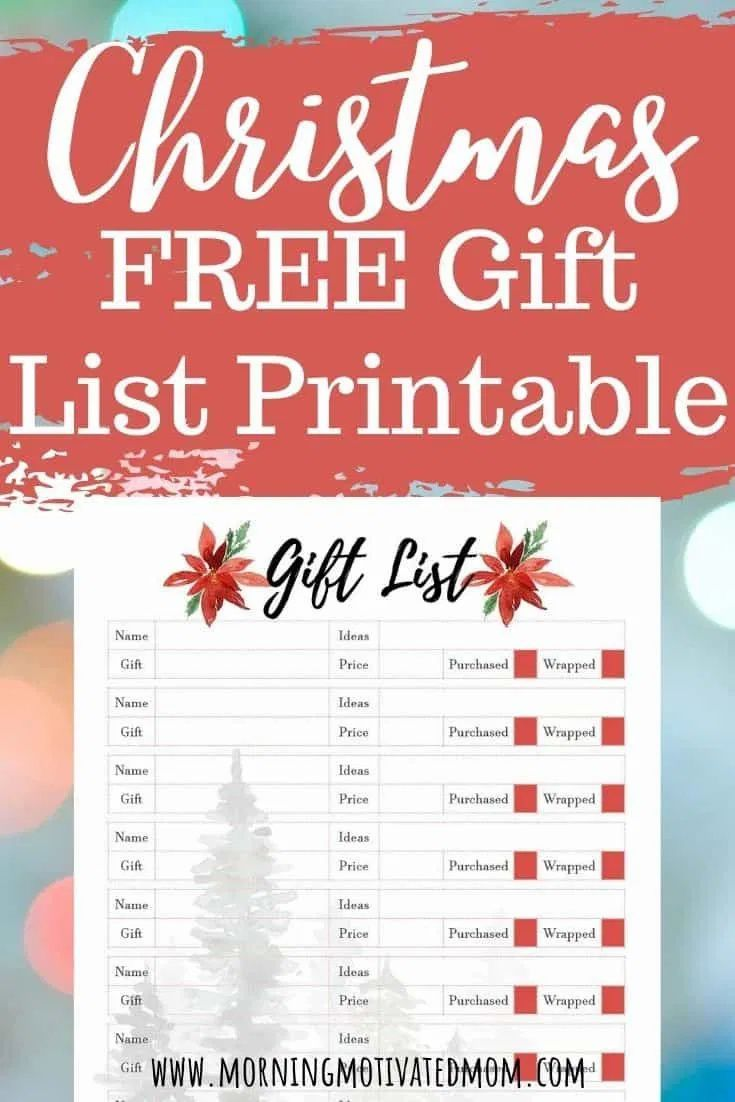 Free Christmas Gifts 2020 Free Christmas Gift List Printable. Get organized and think ahead