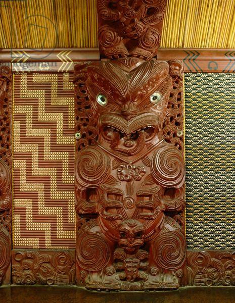 Te Hau-Ki-Turanga meeting house, built by the Ngati Kaipoho tribe in 1842