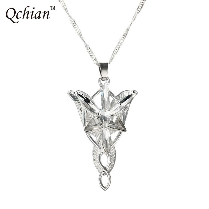 The Lord of the Ring Arwen Evenstar Pendent Movie Jewelry Crystal Twilight Star Silver Pendent Torque