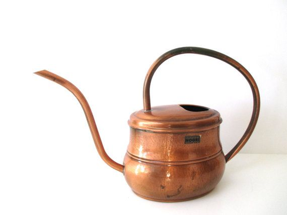 Oval Midcentury Modern Copper Watering Can by MyBeautifulBavaria