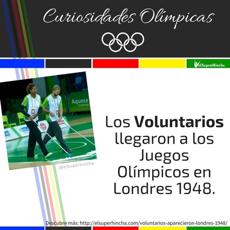 #CuriosidadesOlímpicas #JuegosOlímpicos #Voluntarios #Voluntariado #JuegosOlímpicosRío2016 #Río2016 #RíoRTVE