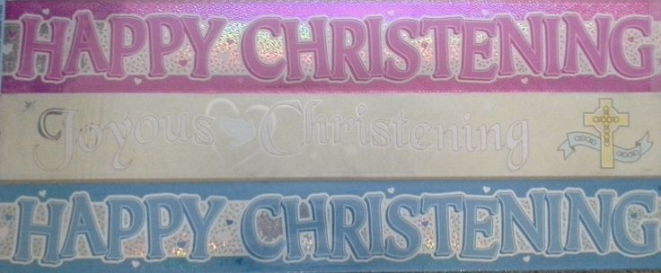 Christening party banners