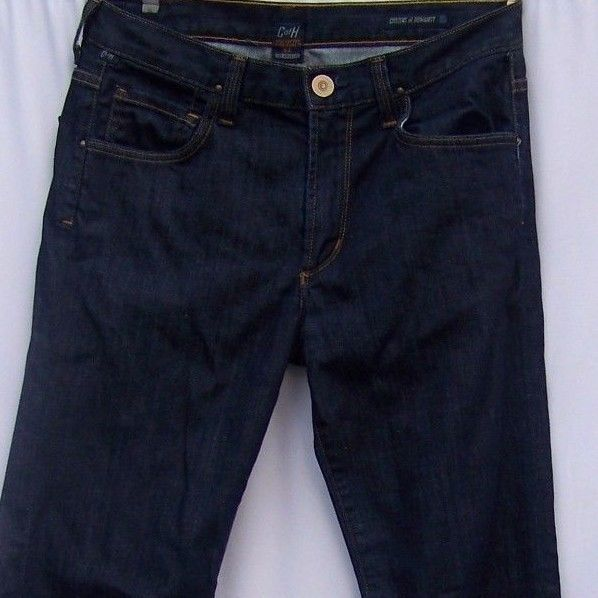 Citizens of Humanity Jeans Dark Wash Cotton Mens Sid Straight Leg 33x32 tag 31 #CitizensofHumanity #ClassicStraightLeg