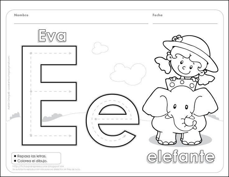 Fichas para preescolar: ¿Qué actividades usas para trabajar la letra e?