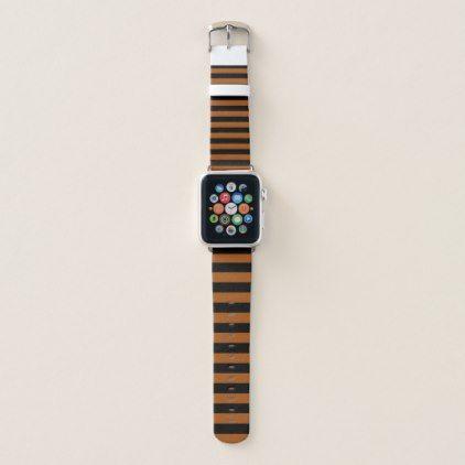 #Halloween Stripes Apple Watch Band - #halloween #party #stuff #allhalloween All Hallows' Eve All Saints' Eve #Kids & #Adaults
