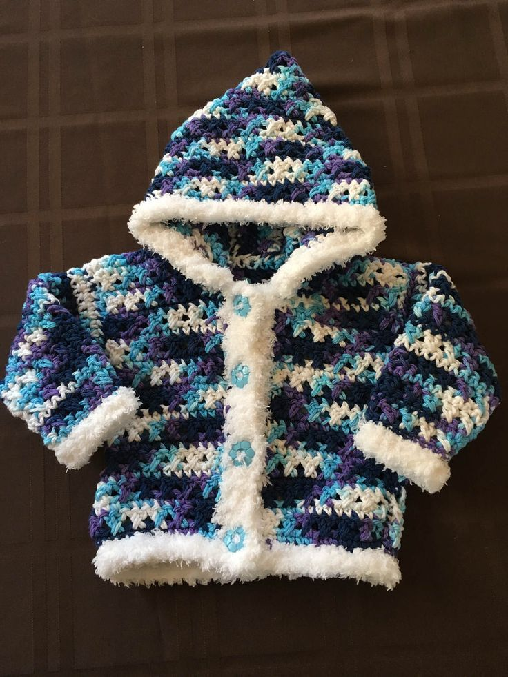 A personal favorite from my Etsy shop https://www.etsy.com/ca/listing/509028422/girls-crochet-sweater-with-hood