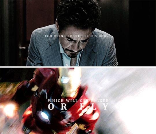 tony stark as icarus/daedalus #marvel